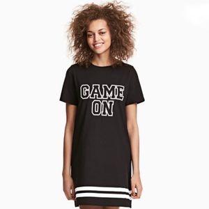 """Game On"" T-Shirt Dress H&M"